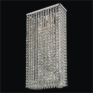 2-Light Crystal Wall Sconce | Urban Chic 596 by GLOW Lighting
