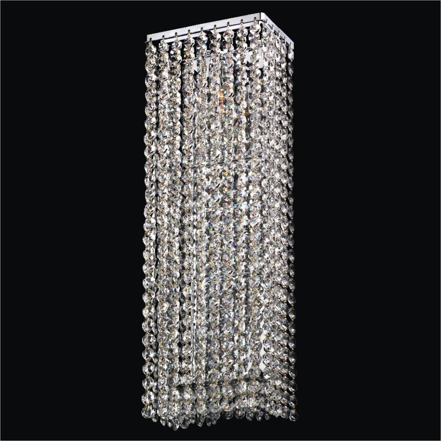 Contemporary crystal wall sconce urban chic 596 glow lighting contemporary crystal wall sconce urban chic 596 by glow lighting amipublicfo Gallery