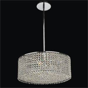 Crystal Drum Chandelier | Urban Chic 596 by GLOW Lighting