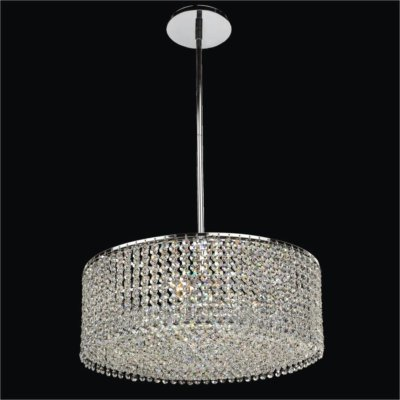 Drum Shape Crystal Pendant Chandelier | Urban Chic 596
