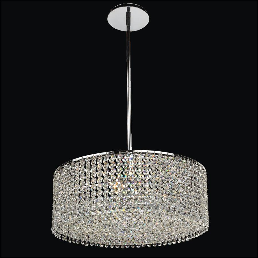 Drum Shape Crystal Pendant Chandelier Urban Chic 596
