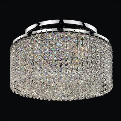 Round Crystal Strand Flush Mounts | Urban Chic 596