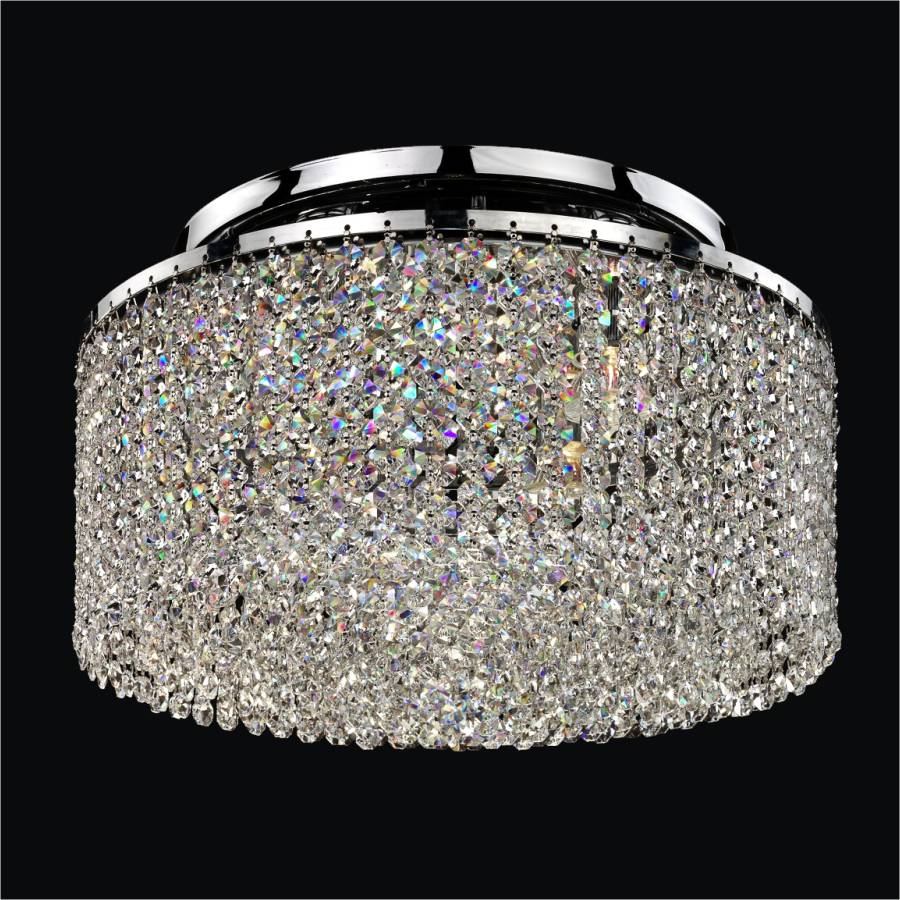 Crystal Ceiling Light Flush Mount | Urban Chic 596 by GLOW Lighting