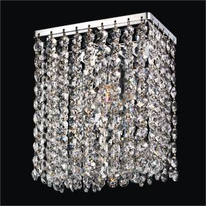 Contemporary Crystal Wall Sconce | Urban Chic 596 by GLOW Lighting