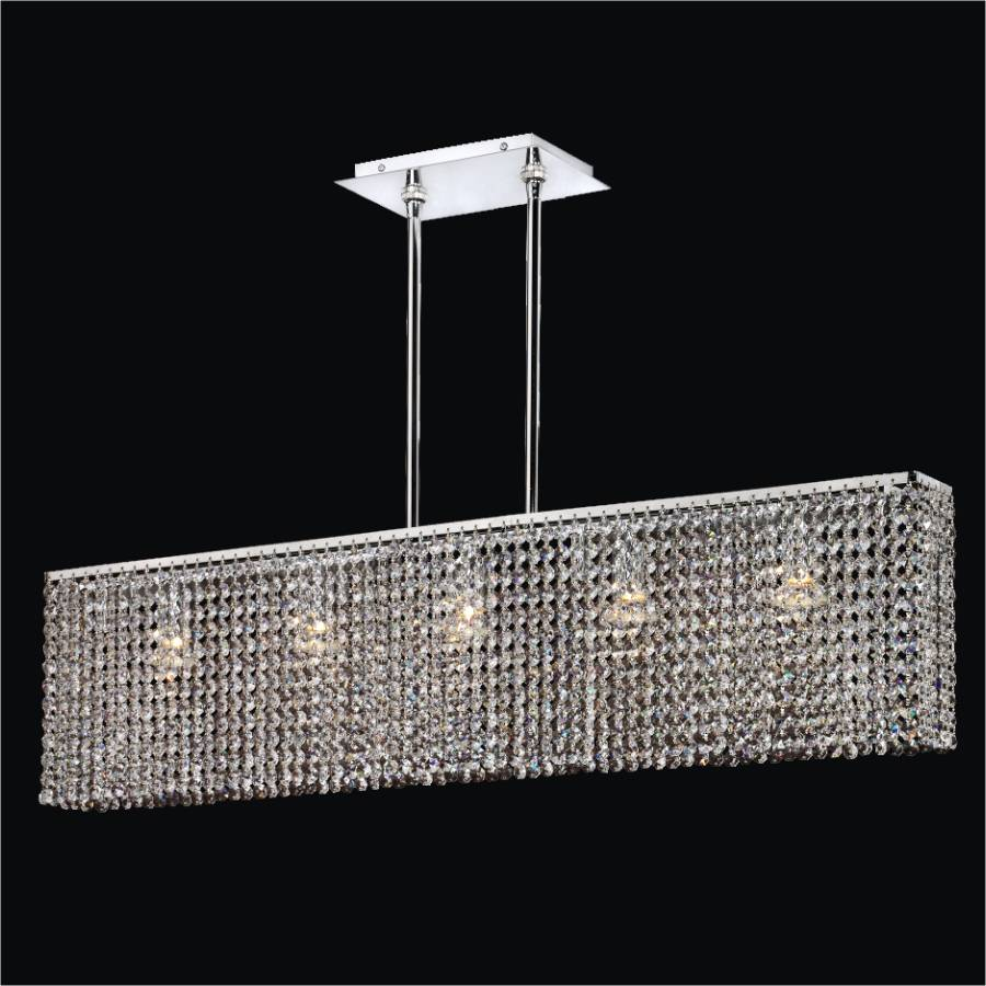Modern Rectangular Crystal Chandelier | Urban Essentials 595 by GLOW Lighting