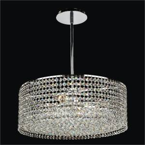 Round Crystal Chandelier – Pendant Chandelier | Urban Essentials 595 by GLOW Lighting