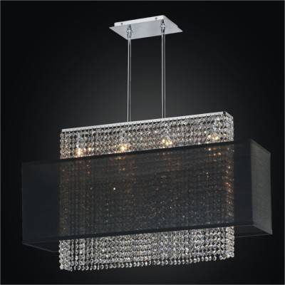 Crystal Strand Shaded Linear Chandelier | Urban Essentials 595