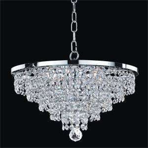 Crystal Pendant Chandelier | Vista 628A by GLOW Lighting