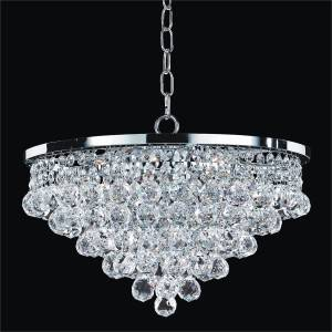 Crystal Ball Pendant Chandelier | Vista 628F by GLOW Lighting