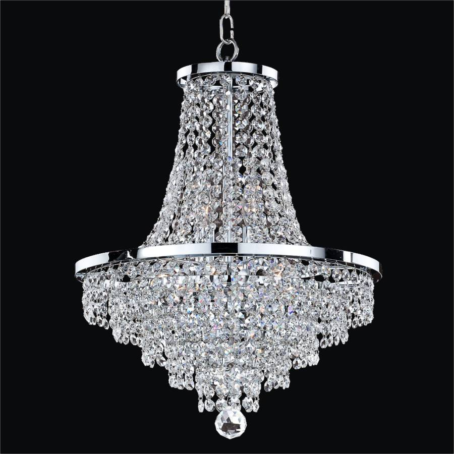 Empire Crystal Chandelier | Vista 628A by GLOW Lighting