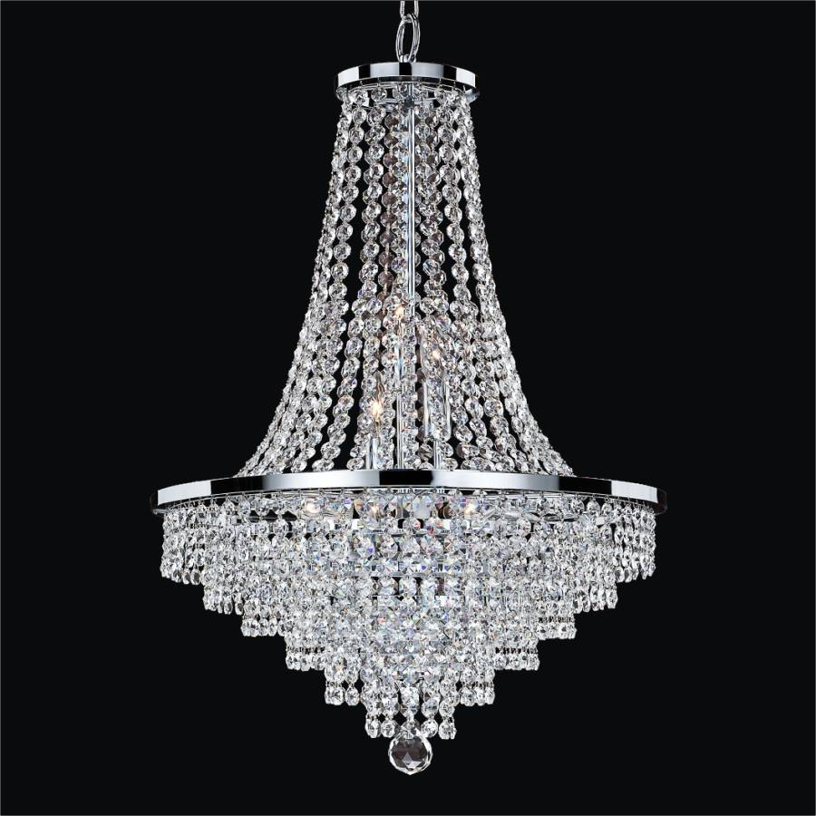 Crystal empire chandelier vista 628a glow lighting - Lighting and chandeliers ...