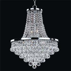 Empire Style Chandelier | Vista 628F by GLOW Lighting
