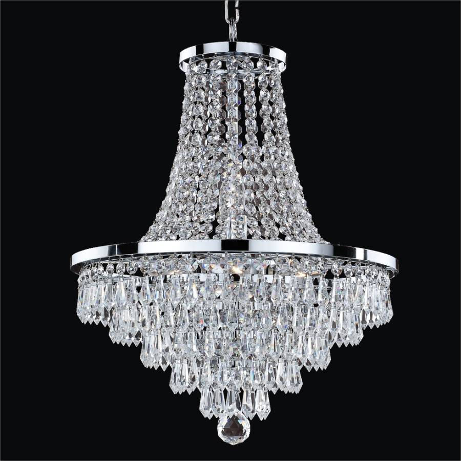 French Empire Crystal Chandelier | Vista 628T by GLOW Lighting