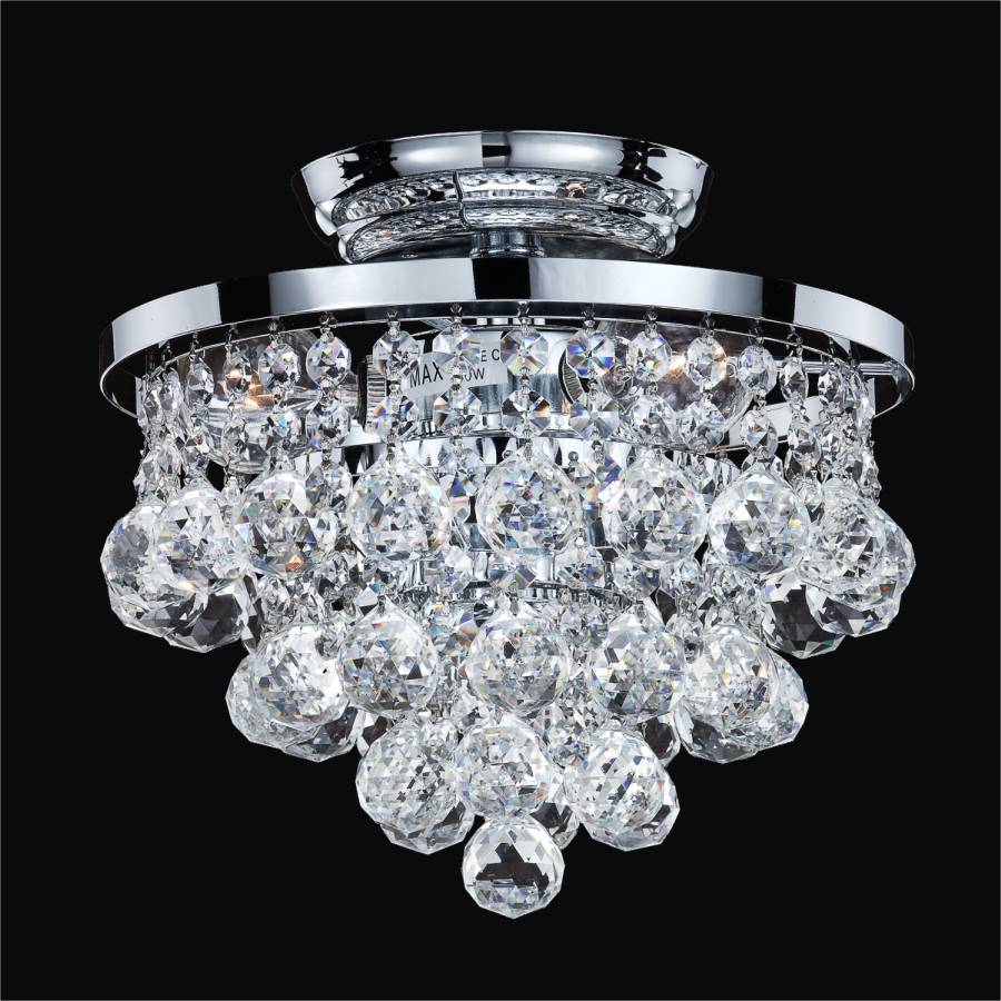 Crystal Ball Ceiling Light | Vista 628F by GLOW Lighting