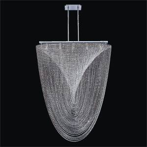 Modern Crystal Chandelier | Vortex 574 by GLOW Lighting