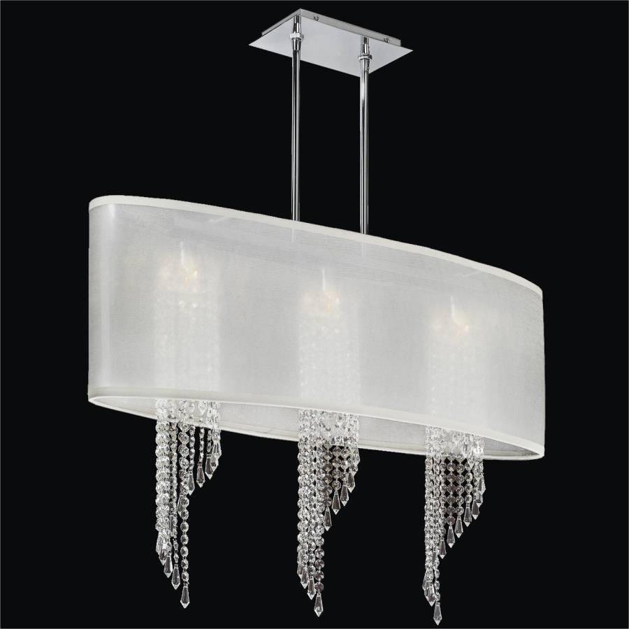 Spiral Crystal Chandelier - Oval Shade | Wavelength 616 by GLOW Lighting