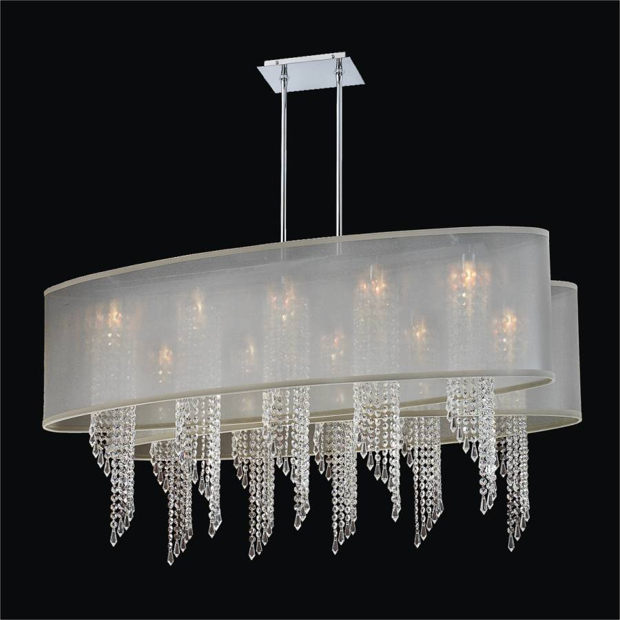 oval shade chandelier spiral crystal light wavelength 616 glow
