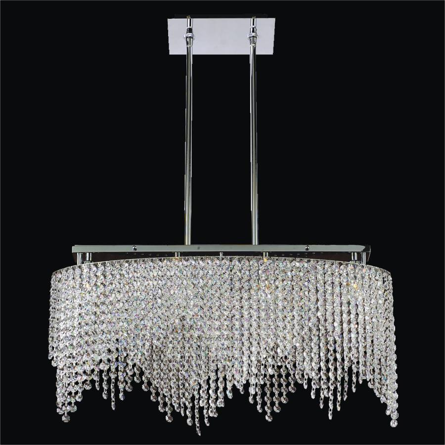 Willow crystal flush mount by GLOW Lighting