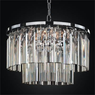 Pendant Chandelier with Optic Crystal Trim | Wind Chime 613