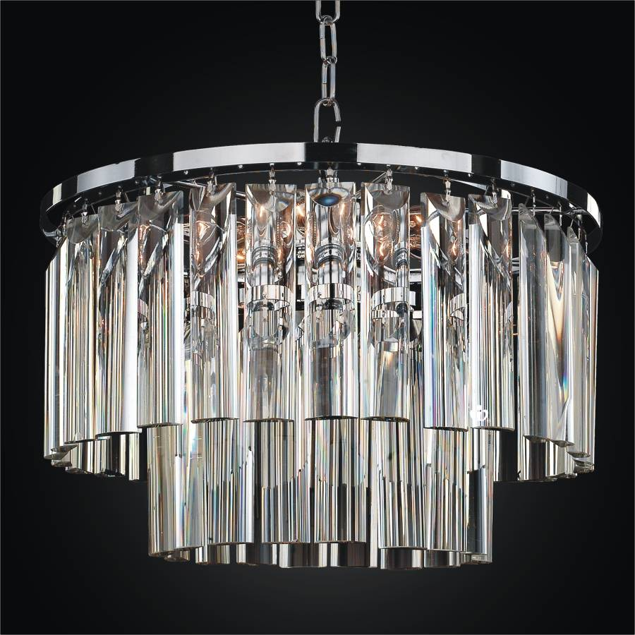 Modern Glass Pendant Chandelier | Wind Chime 613 by GLOW Lighting