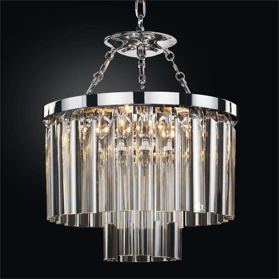 with light chrome pendant beaded drum shade crystal zoom chandelier item