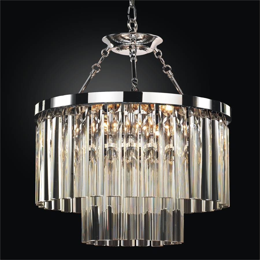 Glass rod chandelier wind chime 613 glow lighting contemporary pendant chandelier with optic crystal wind chime 613dm19sp mozeypictures Choice Image