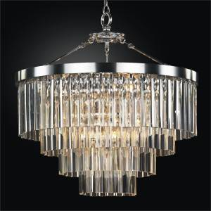 Contemporary Pendant Chandelier with Optic Crystal | Wind Chime 613 by GLOW Lighting