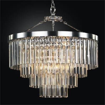 Contemporary Pendant Chandelier with Optic Crystal | Wind Chime 613
