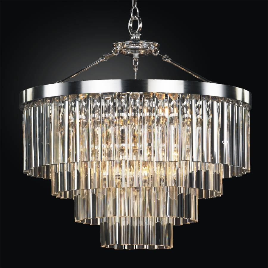 Contemporary Pendant Chandelier With Optic Crystal Wind Chime Three Glow Lighting