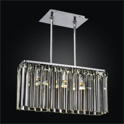 Rectangular Glass Pendant Chandelier | Wind Song 620
