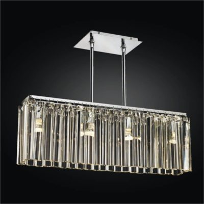 Linear Glass Chandelier | Wind Song 620