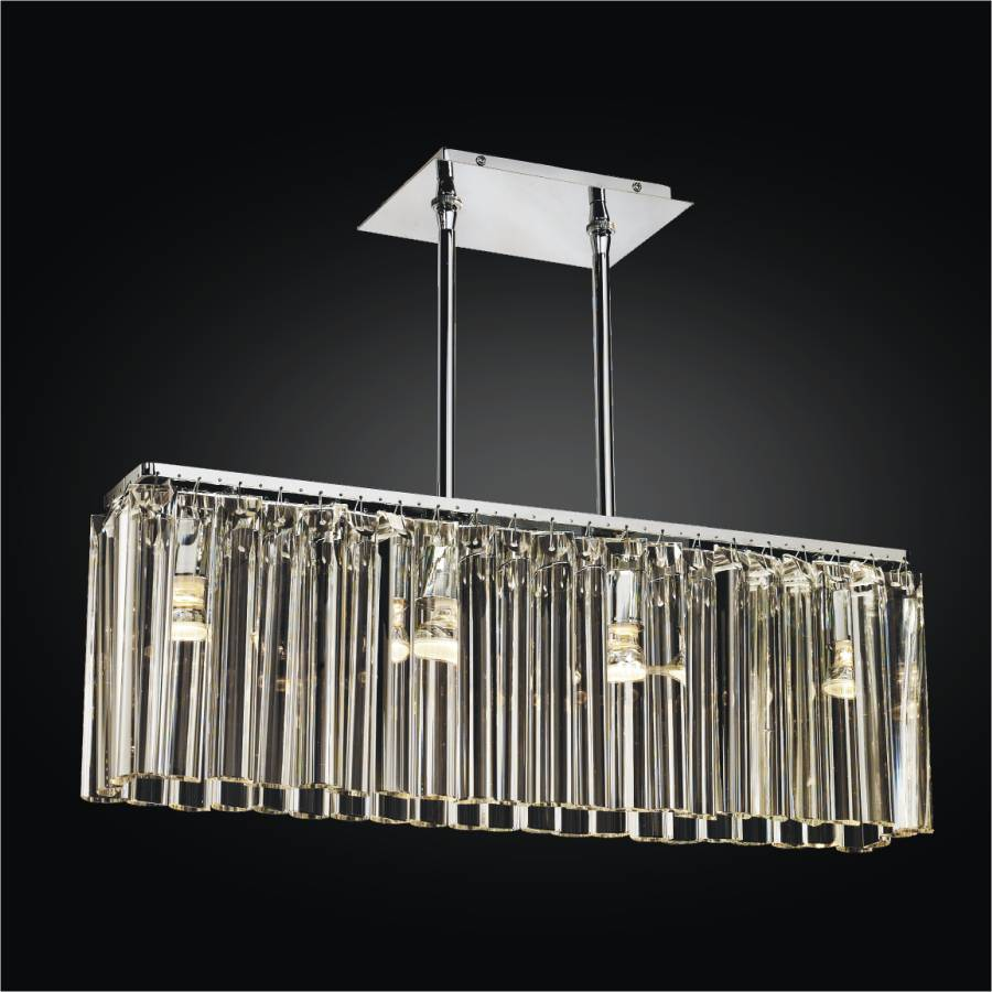 Linear Glass Chandelier | Wind Song 620 by GLOW Lighting