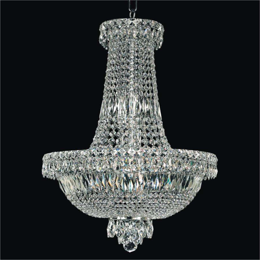 Crystal Empire Basket Chandelier | Windsor Royale 551 by GLOW Lighting