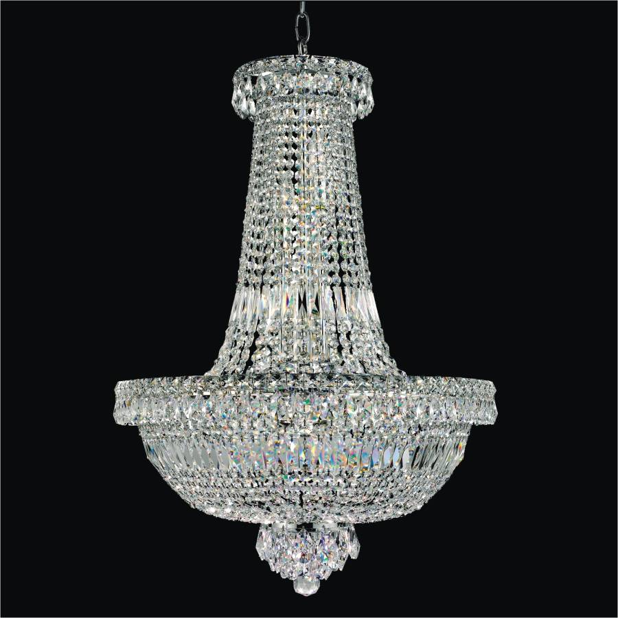 Windsor royale empire crystal chandelier by GLOW Lighting