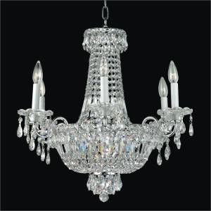 Crystal Empire Basket Candelabra Chandelier | Windsor Royale 551 by GLOW Lighting