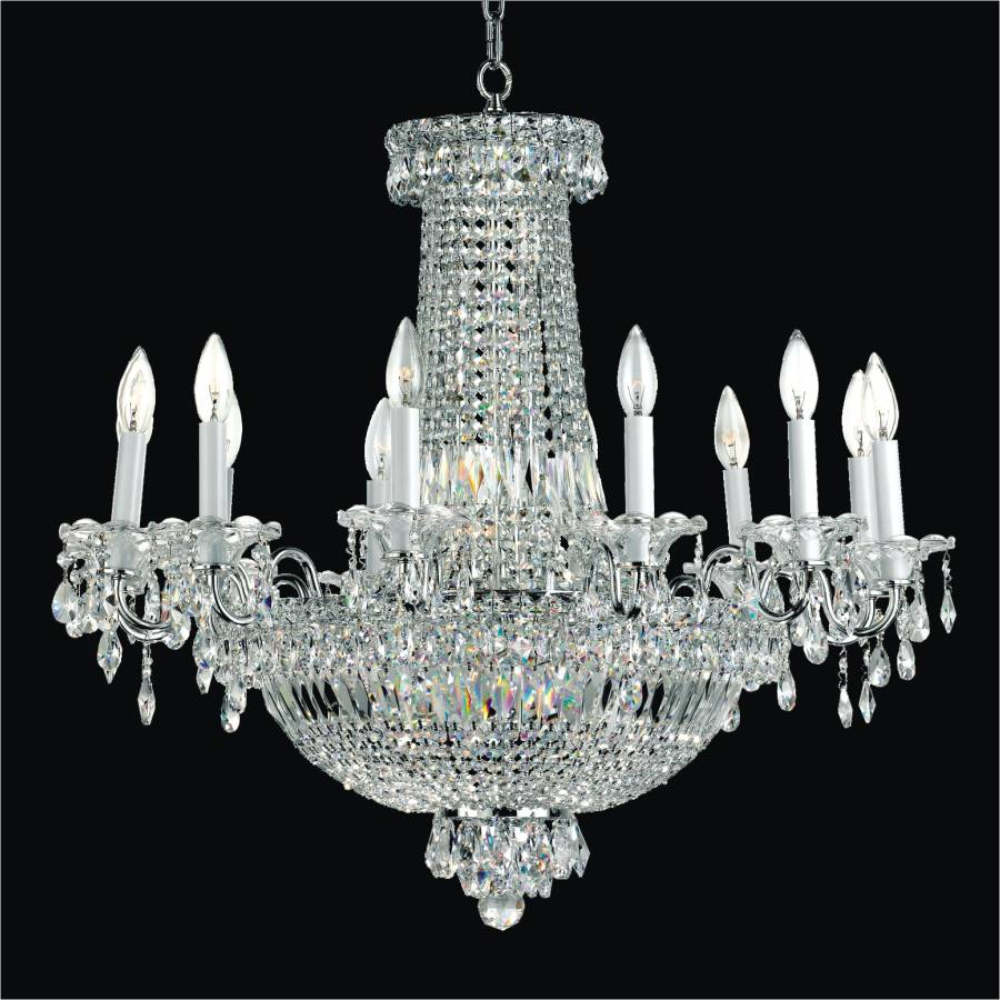 Candelabra Chandelier | Windsor Royale 551 by GLOW Lighting
