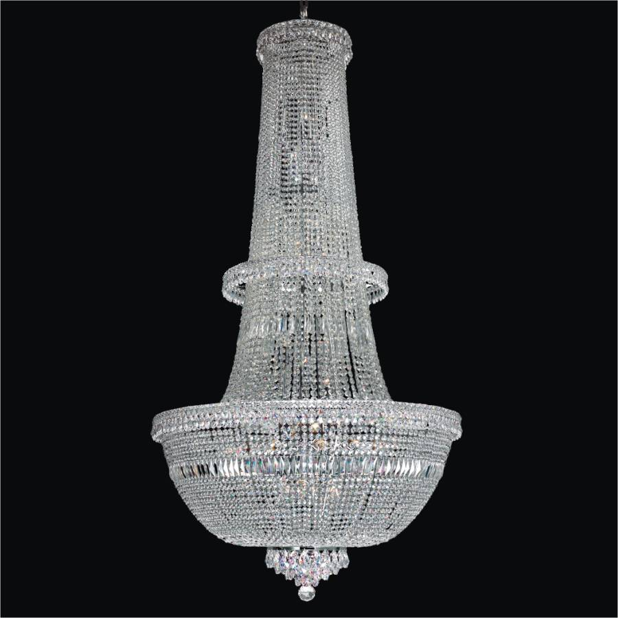 Long Crystal Chandelier | Windsor Royale 551 by GLOW Lighting