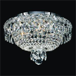 Crystal Basket Classic Flush Mount Light | Windsor Royale 551 by GLOW Lighting
