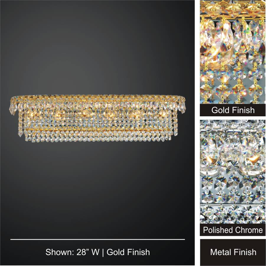 Windsor royale empire crystal wall sconce by GLOW Lighting