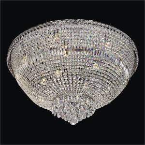 Flush Mounted Crystal Chandelier | Windsor Royale 551 by GLOW Lighting