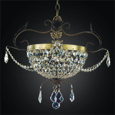Wrought Iron and Crystal Pendant Chandelier | Wrought Iron 541