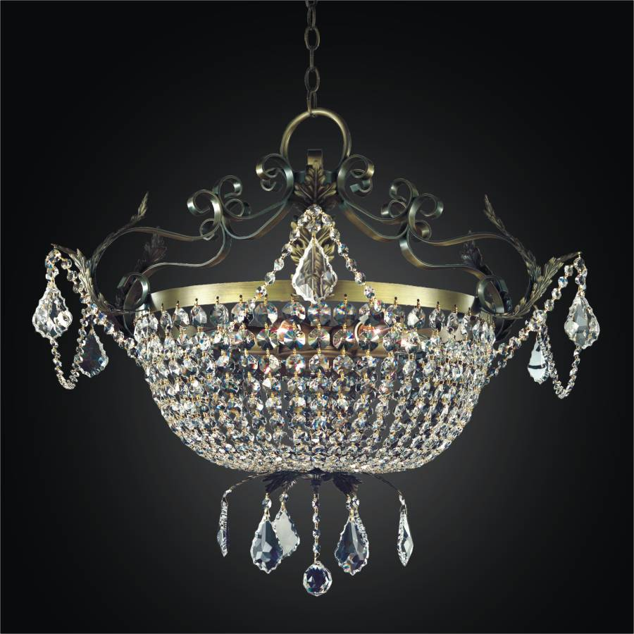 French Country Chandelier | Wrought Iron 541LD25BG-3