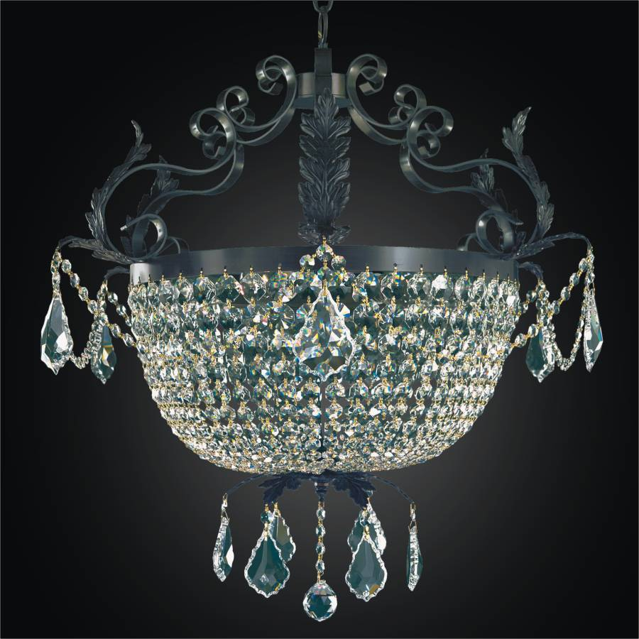 French Country Chandelier | Wrought Iron 541 by GLOW Lighting