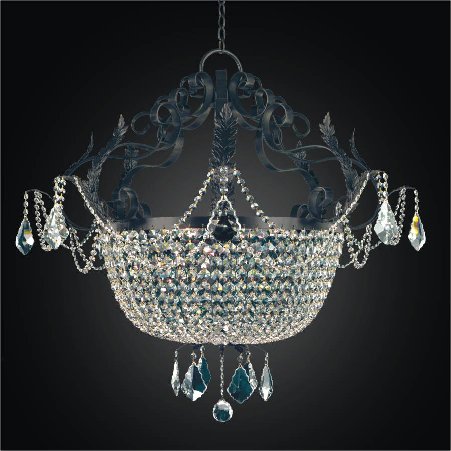 Large French Country Chandelier | Wrought Iron 541 by GLOW Lighting