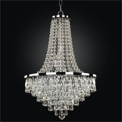 Crystal Empire Chandelier with Assorted Smooth Crystals | Summer Rain 638