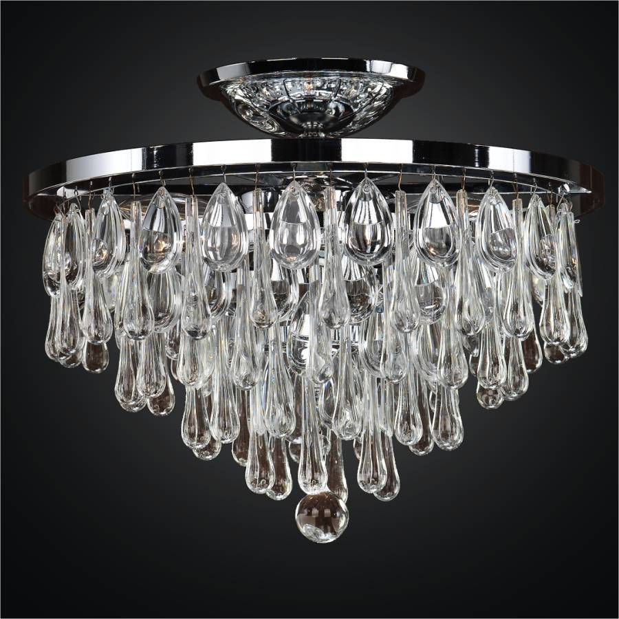Small Crystal Flush Mount | Summer Rain 638 by Glow® Lighting.