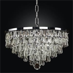 Contemporary Crystal Pendant Chandelier | Summer Rain 638 by Glow® Lighting.