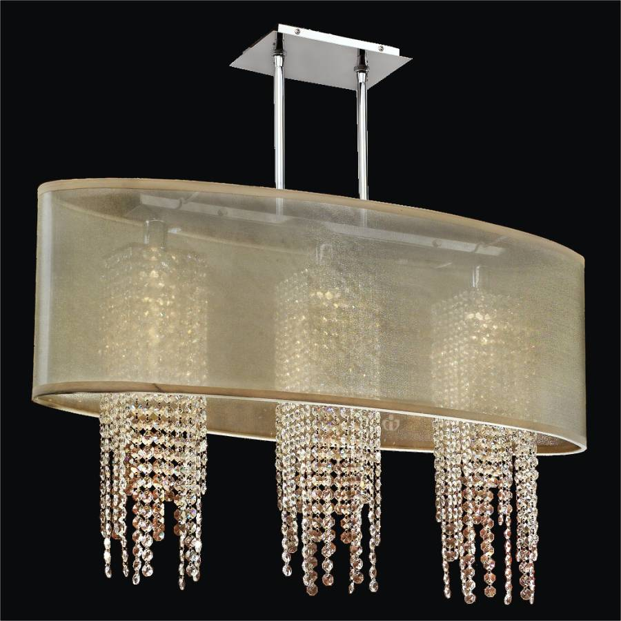 Oval Shade Chandelier | Soho 626A by GLOW Lighting