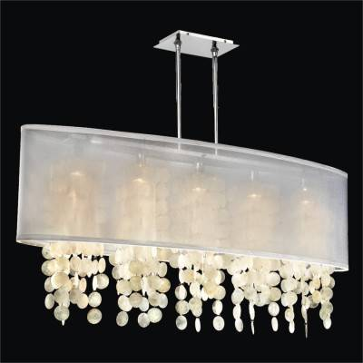 Oval Shade Capiz Shell Chandelier | Soho 626C
