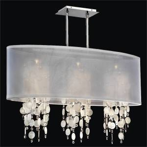 Capiz Shell Pendant Chandelier | Soho 626K by GlOW Lighting